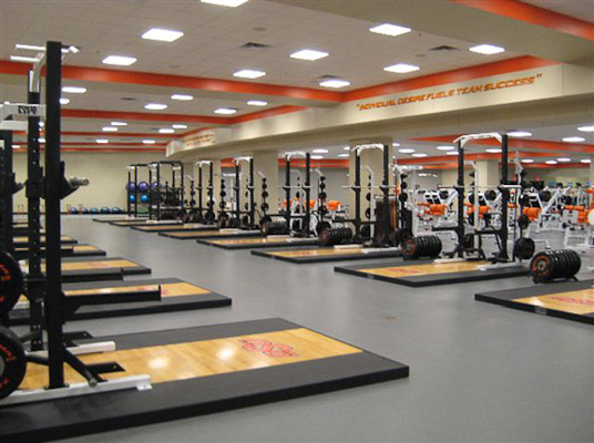 Oklahoma state university weight room installation power