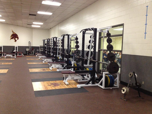 Texas State Baseball Weight Room