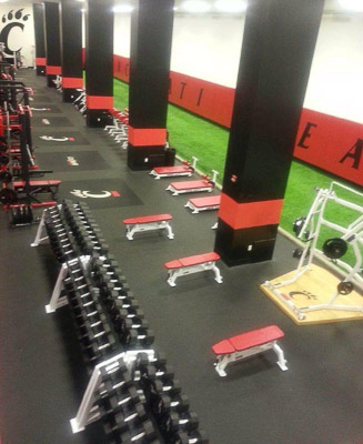 University Of Cincy Weight Room Installation Power Lift