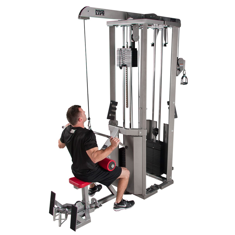 Two Station Pulley Or Cable Machines Power Lift